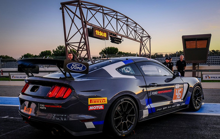 Ford Mustang Gt To Europe For The First Time In A Special Exhibition Debut At The Ffsa Championnat De France Gt Gt European Series Southern Cup Race