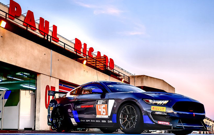 ford mustang gt4 european debut at circuit paul ricard france roush yates engines. Black Bedroom Furniture Sets. Home Design Ideas
