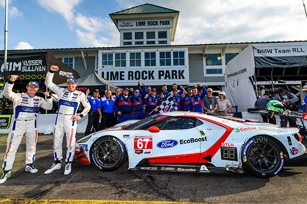 FORD GT WINS AT LIME ROCK WITH DOUBLE PODIUM   Roush Yates
